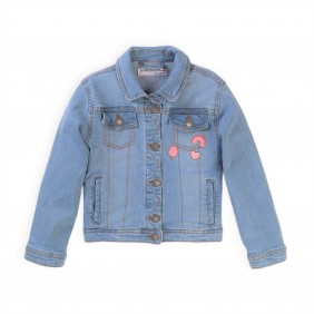 Дънково яке със значки