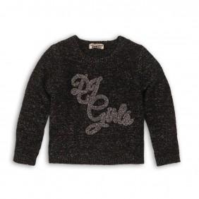 Пуловер със сребриста нишка