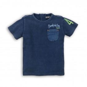 Тениска с деним ефект