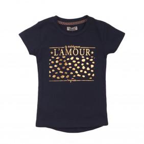 Тениска със златист надпис