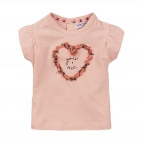 Тениска със сърце apricot_38225_D17-20