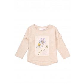 Блузка с флорален панел