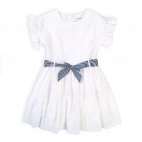 Бяла детска рокля