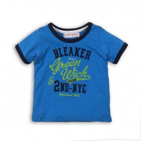 Детска тениска с надпис GREEN_4_SEA_BLUE_C27-20
