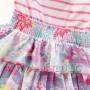 Цветна рокля на волани 1